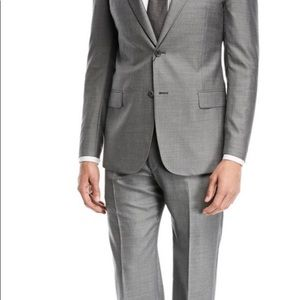 YVES SAINT LAURENT MENS GREY WOOL SUIT 42R